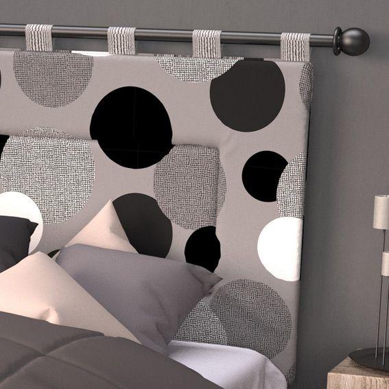 t te de lit 160 cm pop gris t te de lit eminza. Black Bedroom Furniture Sets. Home Design Ideas
