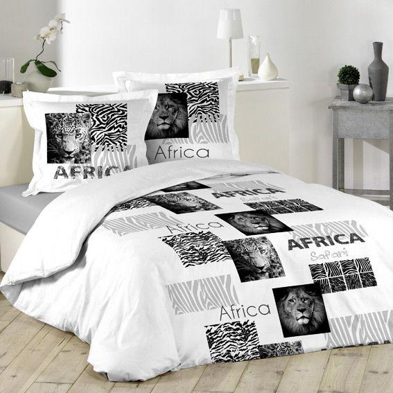 housse de couette et deux taies 240 cm afrique housse de couette eminza. Black Bedroom Furniture Sets. Home Design Ideas