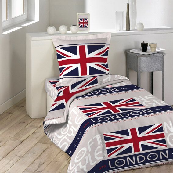 parure de draps 3 pi ces london style parure de draps eminza. Black Bedroom Furniture Sets. Home Design Ideas