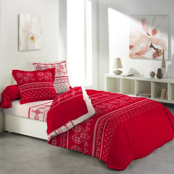 parure de draps 4 pi ces flanelle ambiance chalet parure de draps eminza. Black Bedroom Furniture Sets. Home Design Ideas