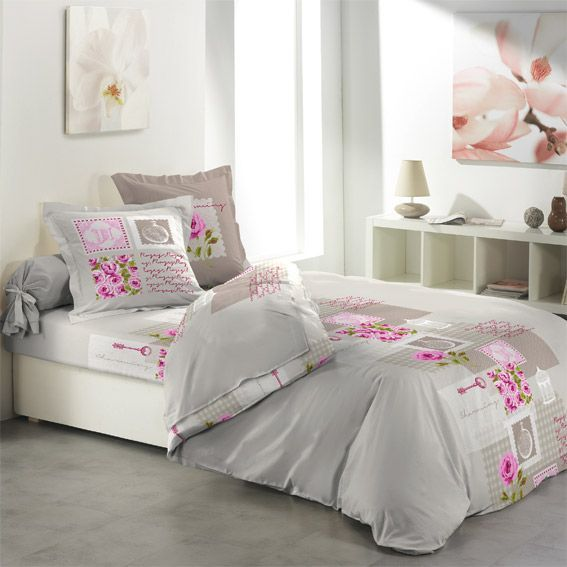 parure de draps 4 pi ces flanelle charminy parure de draps eminza. Black Bedroom Furniture Sets. Home Design Ideas