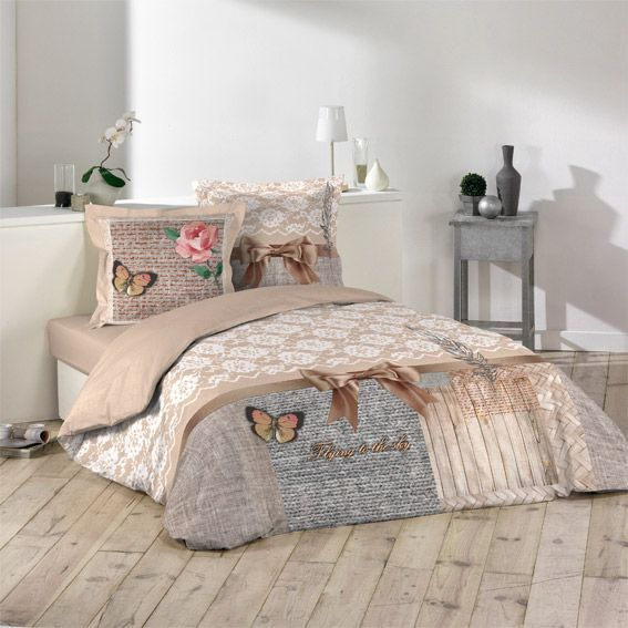 housse de couette et deux taies 260 cm boheme chic housse de couette eminza. Black Bedroom Furniture Sets. Home Design Ideas