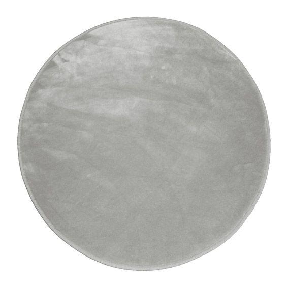 Tapis velours rond louna gris perle tapis de chambre - Maison gris perle ...