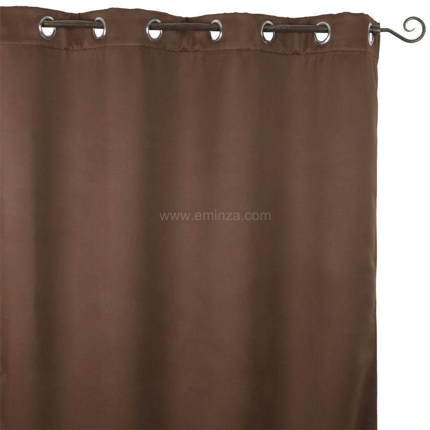 rideau obscurcissant isolant 140 x h260 cm chocolat. Black Bedroom Furniture Sets. Home Design Ideas