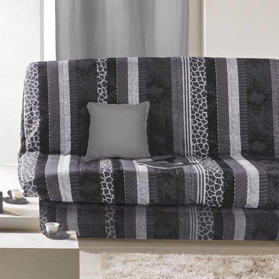 housse de clic clac serpentine gris housse de clic clac bz eminza. Black Bedroom Furniture Sets. Home Design Ideas