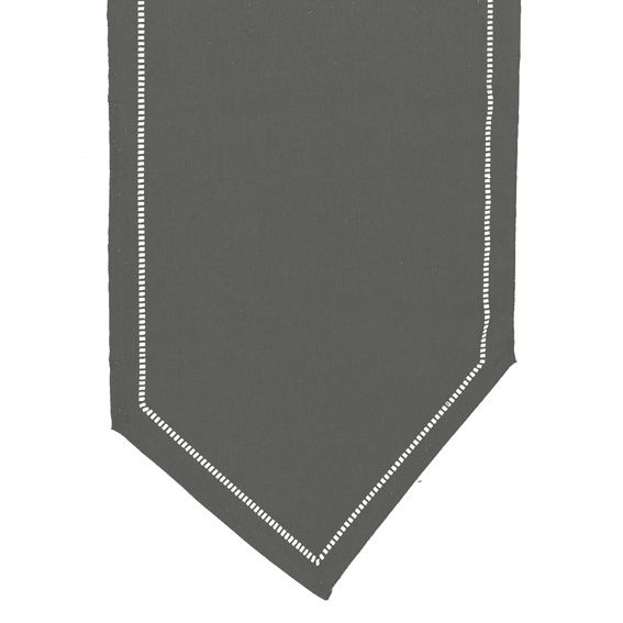 Chemin de table chambray elegance anthracite chemin de - Chemin de table gris anthracite ...
