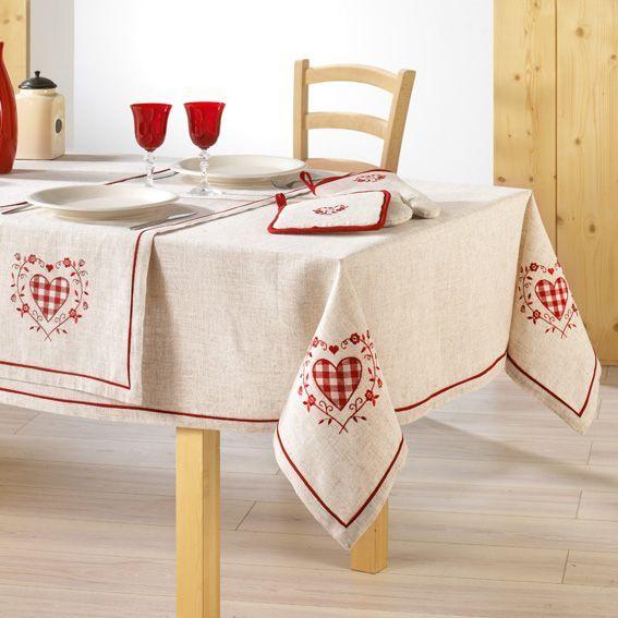 Nappe rectangulaire l240 cm ad le brod lin nappe de table eminza - Nappe de table rectangulaire ...