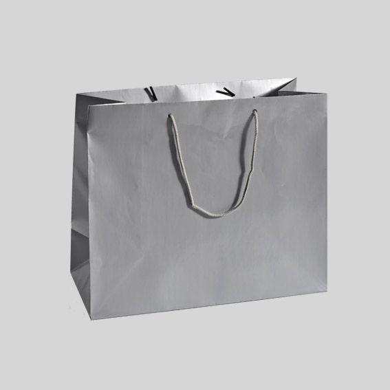 sac cadeau h15 cm brillant argent emballages cadeaux eminza. Black Bedroom Furniture Sets. Home Design Ideas