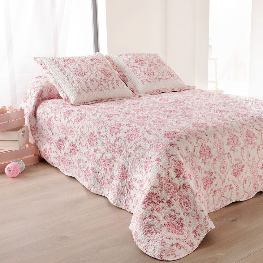 stunning boutis et taies duoreiller x cm toile de jouy rose with housse de couette toile de jouy. Black Bedroom Furniture Sets. Home Design Ideas