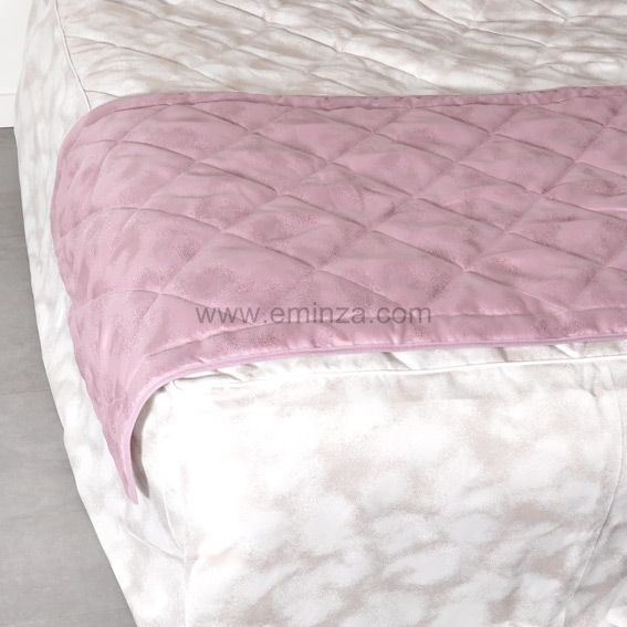 chemin de lit blush rose couvre lit boutis eminza. Black Bedroom Furniture Sets. Home Design Ideas