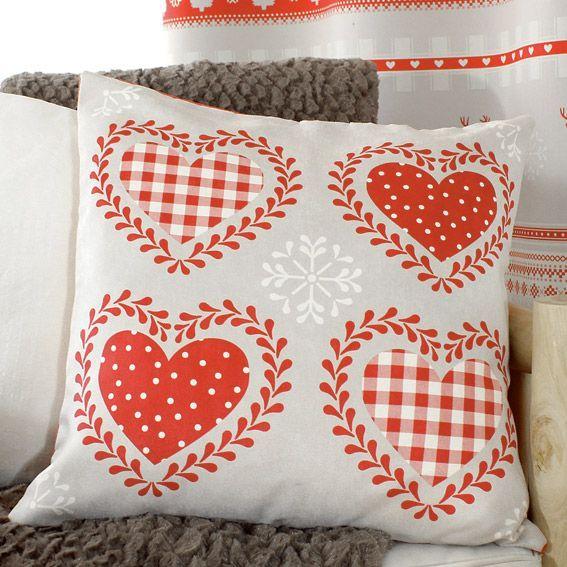 coussin montagne rouge coussin et housse de coussin eminza. Black Bedroom Furniture Sets. Home Design Ideas