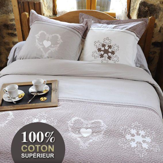 housse de couette et deux taies 260 cm effet cuir lin housse de couette eminza. Black Bedroom Furniture Sets. Home Design Ideas