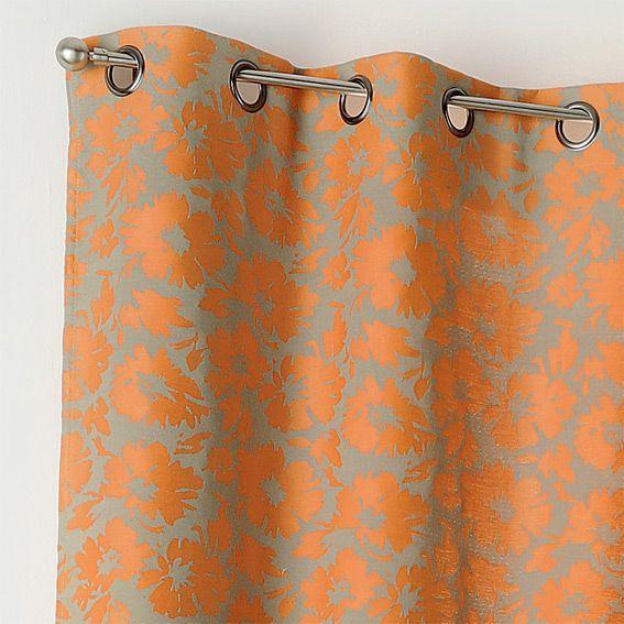 rideau tamisant 135 x h260 cm brazil orange rideau tamisant eminza. Black Bedroom Furniture Sets. Home Design Ideas