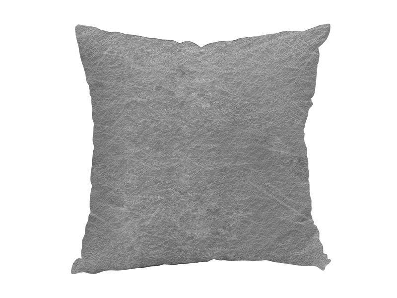 Coussin d houssable effet cuir gris coussin et housse de for Housse coussin cuir
