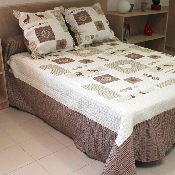 boutis et taies d oreiller l250 cm sisteron chocolat couvre lit boutis eminza. Black Bedroom Furniture Sets. Home Design Ideas