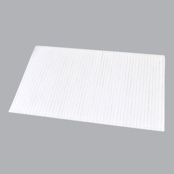 tapis de bain lattes bambou blanc tapis salle de bain. Black Bedroom Furniture Sets. Home Design Ideas