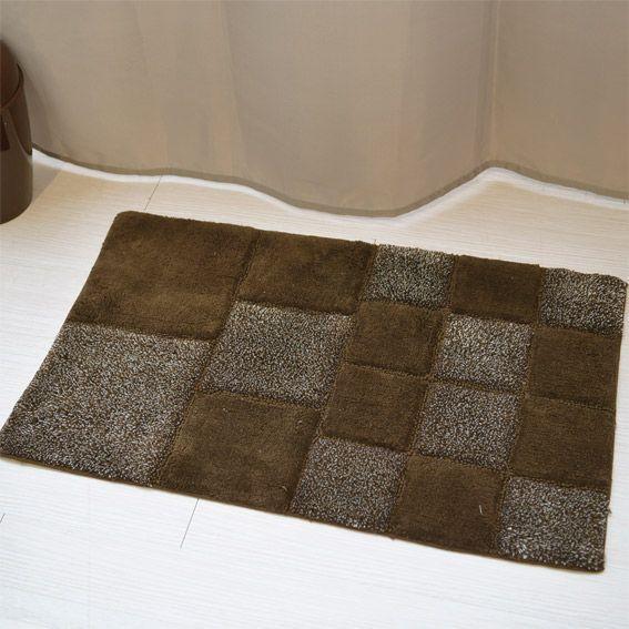 Tapis de bain long island chocolat tapis salle de bain eminza Sdb chocolat taupe