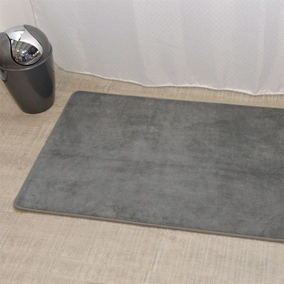Tapis de bain microfibre big simply gris tapis salle de for Tapis salle de bain microfibre