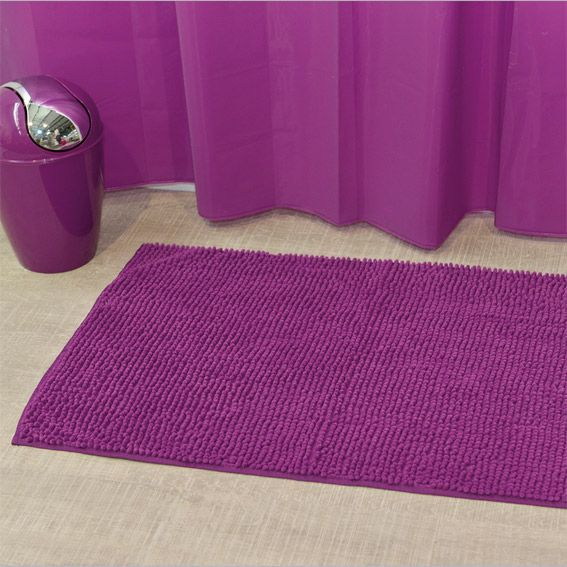 tapis de bain boules violet tapis salle de bain eminza. Black Bedroom Furniture Sets. Home Design Ideas