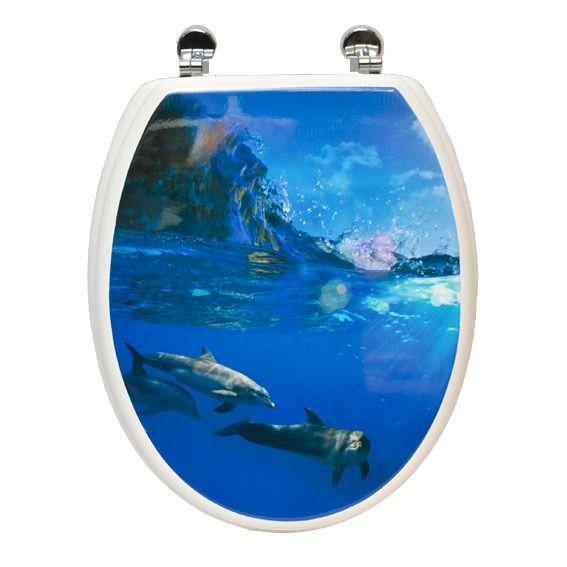 abattant wc dauphins bleu abattant wc eminza. Black Bedroom Furniture Sets. Home Design Ideas