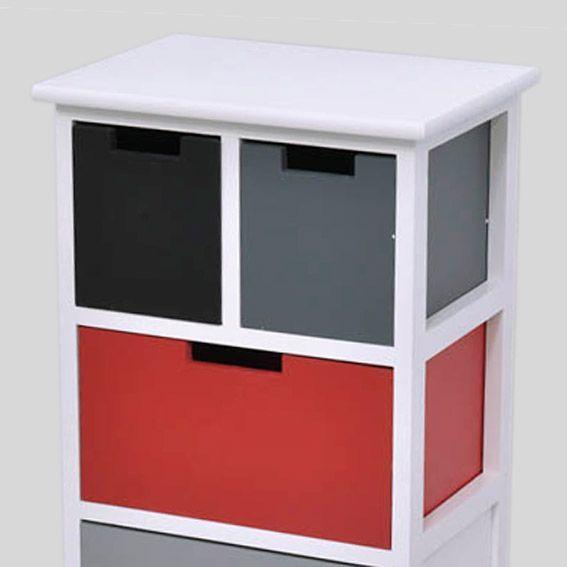 Meuble noir et rouge meilleures images d 39 inspiration - Meuble cuisine rouge et gris ...