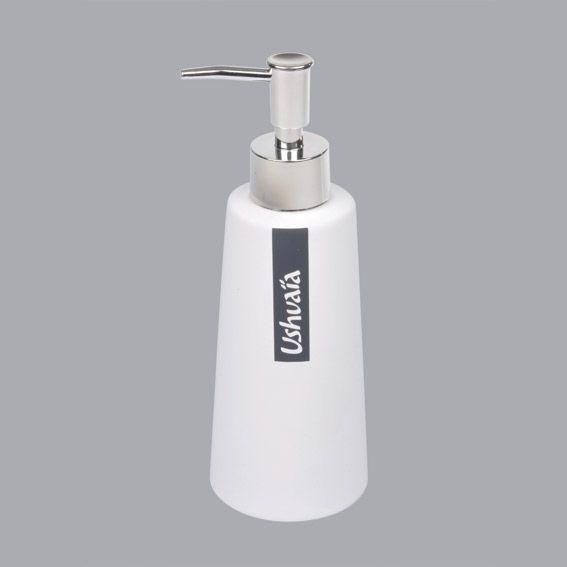 Distributeur de savon ushuaia blanc distributeur de for Distributeur de savon salle de bain