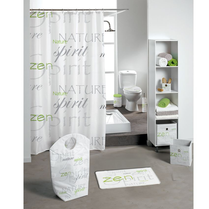 tapis de bain nature zen vert tapis salle de bain eminza. Black Bedroom Furniture Sets. Home Design Ideas