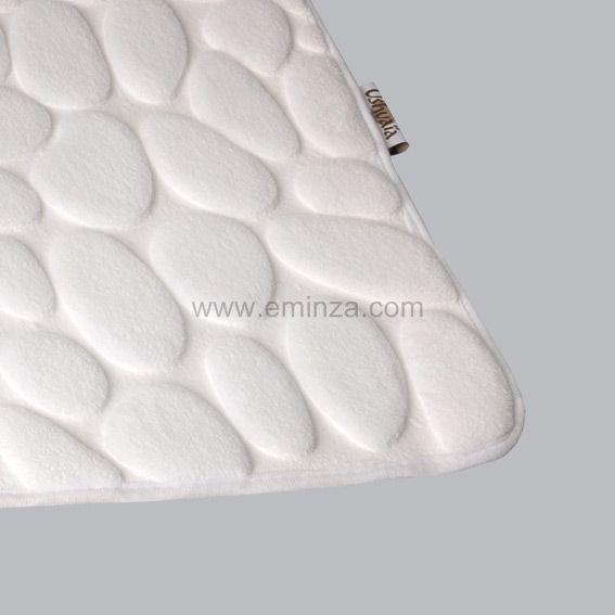 tapis de bain bali ushuaia blanc tapis salle de bain eminza. Black Bedroom Furniture Sets. Home Design Ideas