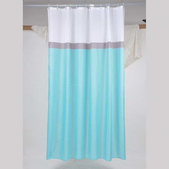 rideau de douche bali ushuaia bleu premium rideau de douche eminza. Black Bedroom Furniture Sets. Home Design Ideas