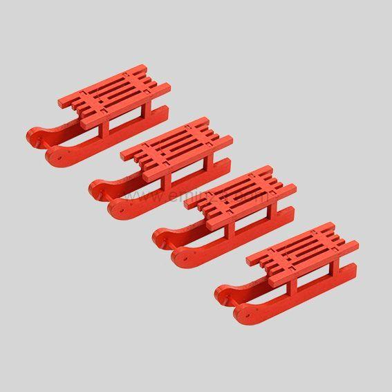 Lot de 4 repose couverts luge rouge d coration pour la table eminza - Lot de couvert de table ...