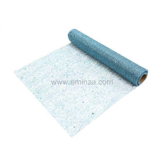 Chemin de table naturity bleu linge de table eminza for Chemin de table 180 cm