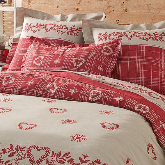 housse de couette et deux taies 240 cm charme bordeaux housse de couette eminza. Black Bedroom Furniture Sets. Home Design Ideas