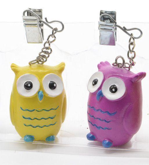 Poids fixe nappe chouettes multicolore accessoires nappes eminza - Poids pour nappe ...