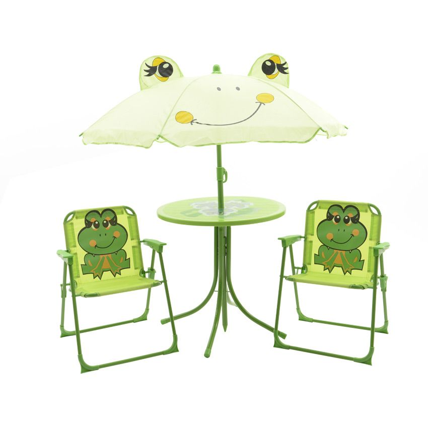 salon de jardin pour enfant grenouille vert mobilier. Black Bedroom Furniture Sets. Home Design Ideas