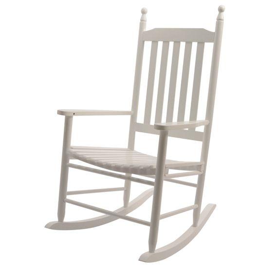 fauteuil bascule bois blanc hamac et accessoires eminza. Black Bedroom Furniture Sets. Home Design Ideas