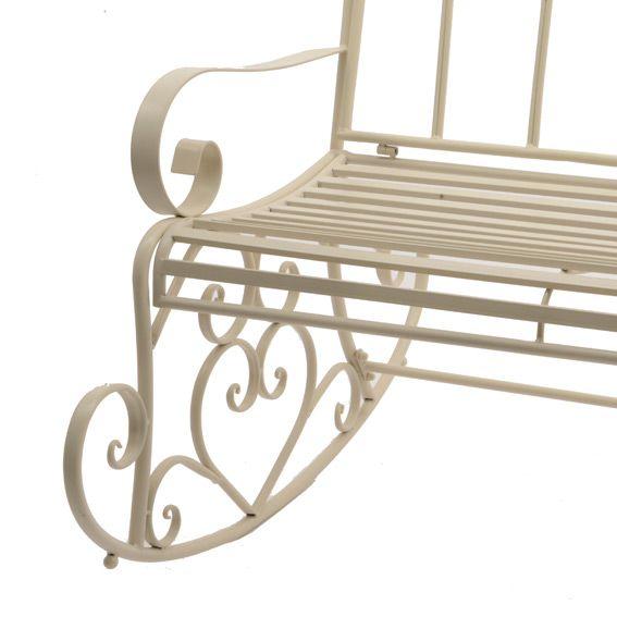 balancelle marylin style fer forg ecru banc de jardin eminza. Black Bedroom Furniture Sets. Home Design Ideas