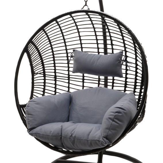 loveuse jazzy gris noir balancelle eminza. Black Bedroom Furniture Sets. Home Design Ideas