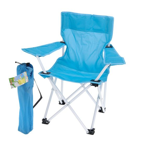 Fauteuil de camping pour enfant bleu mobilier pour enfant eminza - Fauteuil pour enfants ...