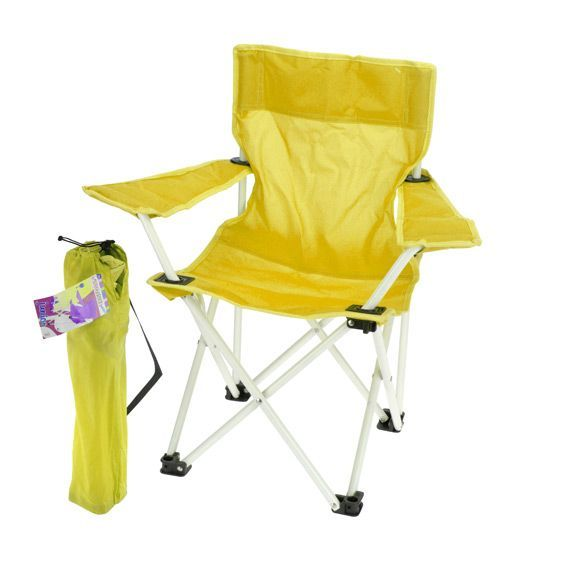 fauteuil de camping pour enfant jaune mobilier pour. Black Bedroom Furniture Sets. Home Design Ideas