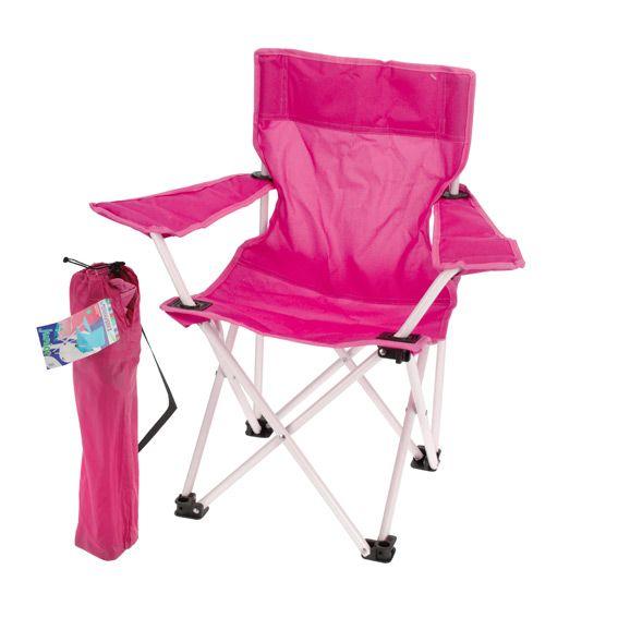 Fauteuil de camping pour enfant rose mobilier pour enfant eminza - Fauteuil enfant rose ...