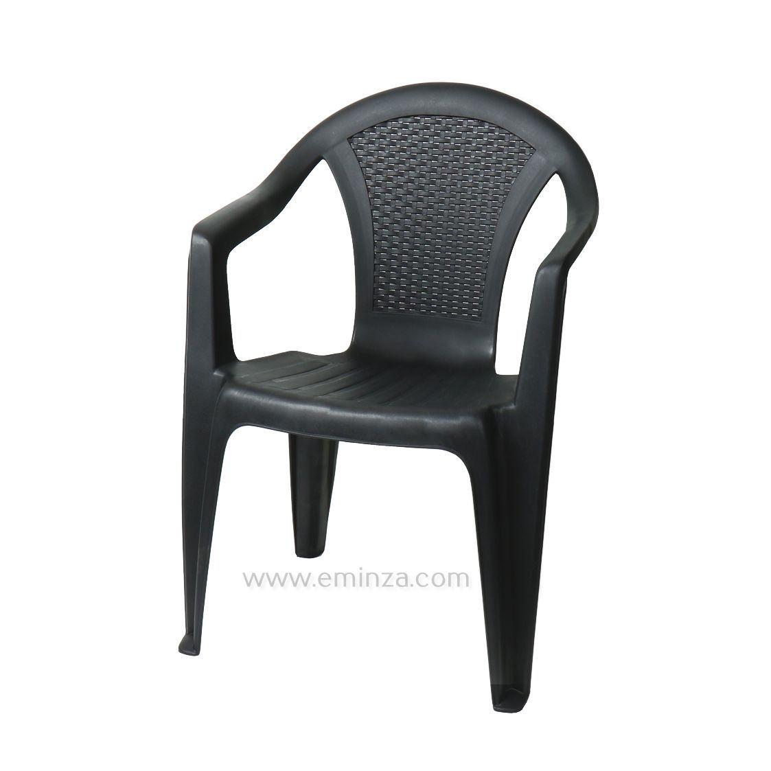 Fauteuil de jardin arpa luxe noir chaise et fauteuil de for Sedie economiche