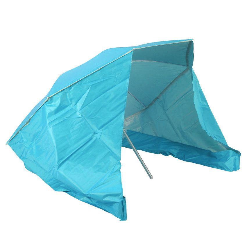 parasol de plage et coupe vent bleu parasol voile et paravent eminza. Black Bedroom Furniture Sets. Home Design Ideas