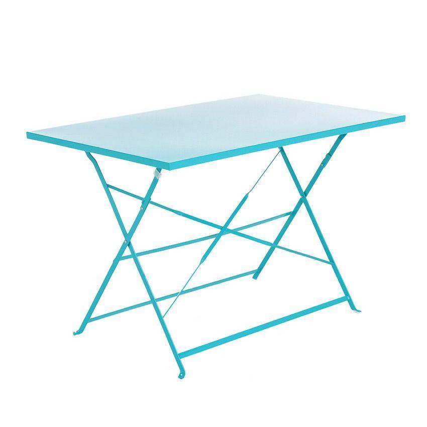 Table de jardin pliante m tal camargue 110 x 70 cm lagon table de jardin eminza - Table jardin metal pliante ...