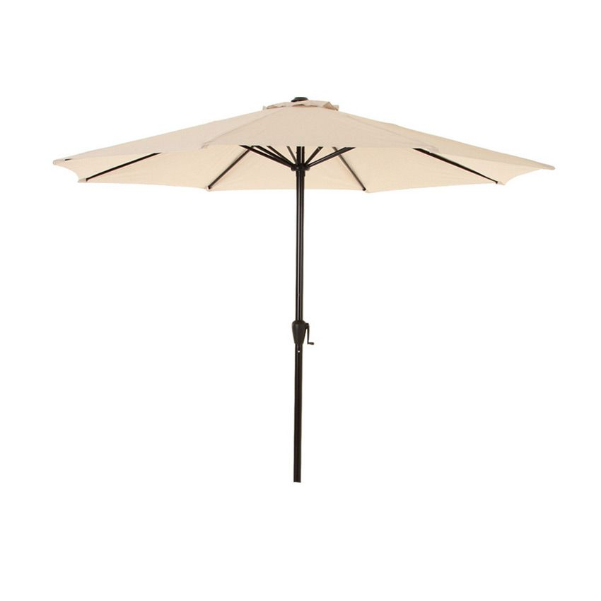 parasol inclinable rond fidji d300 cm sable parasol voile et paravent eminza. Black Bedroom Furniture Sets. Home Design Ideas