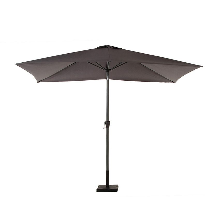 parasol inclinable rectangulaire fidji 3 x 2 m ardoise parasol voile et paravent eminza. Black Bedroom Furniture Sets. Home Design Ideas