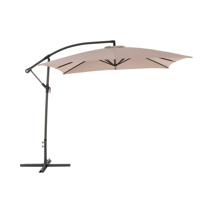 parasol d port carr hawai l2 5 x l2 5 m taupe parasol d port eminza. Black Bedroom Furniture Sets. Home Design Ideas