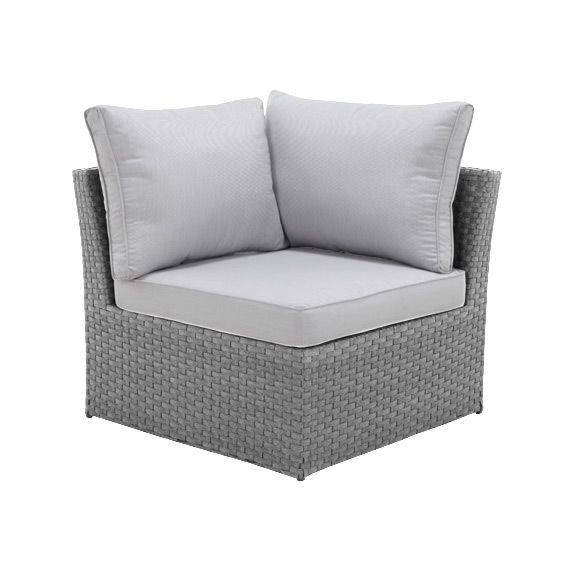 fauteuil d 39 angle de jardin s villa gris gris clair. Black Bedroom Furniture Sets. Home Design Ideas