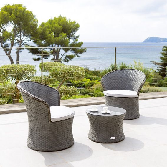 salon de jardin bahamas gris bleut gris 2 places salon de jardin eminza. Black Bedroom Furniture Sets. Home Design Ideas