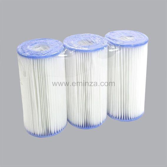 lot de 3 cartouches de filtration type a intex piscine et accessoires eminza. Black Bedroom Furniture Sets. Home Design Ideas