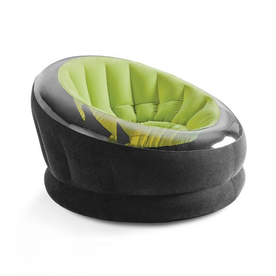 Fauteuil gonflable onyx vert intex mobilier gonflable for Fauteuil gonflable piscine intex